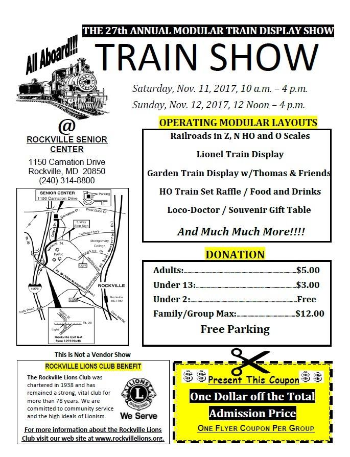 27th Annual Train Show @ Rockville Lions Club